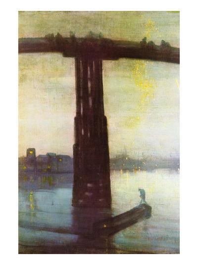 Old Battersea Bridge-James Abbott McNeill Whistler-Art Print