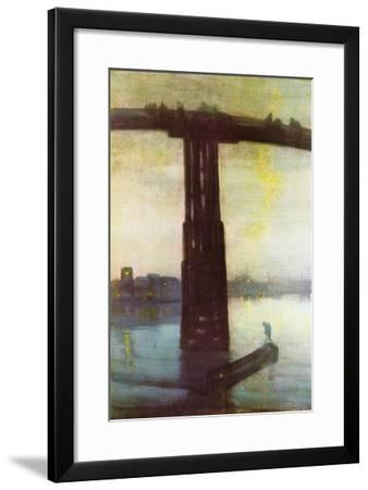 Old Battersea Bridge-James Abbott McNeill Whistler-Framed Art Print
