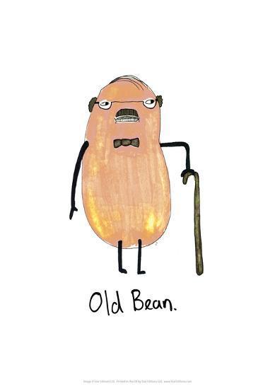 Old Bean - Tom Cronin Doodles Cartoon Print-Tom Cronin-Giclee Print
