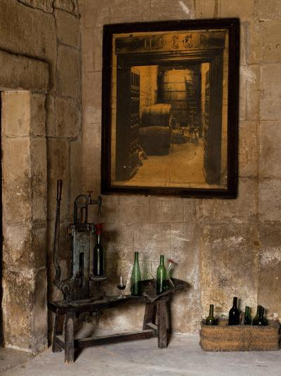 Old Bottling Machine Inside a Disused Winery in the Village of Abalos-John Warburton-lee-Photographic Print