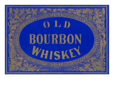 Old Bourbon Whiskey Sign--Art Print