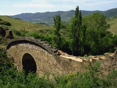 Old Bridge and Roman Road, Cirauqui, Camino, Navarre, Spain, Europe-Ken Gillham-Photographic Print