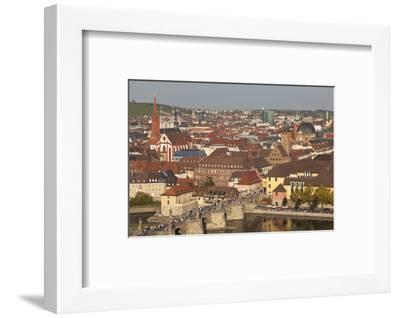 Old Bridge of the Main River, Augustinerkirche Church, Grafeneckart Tower-Markus Lange-Framed Photographic Print