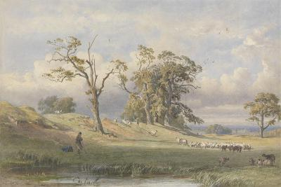 Old British Camp in Bulstrode Park, 1860-George Arthur Fripp-Giclee Print