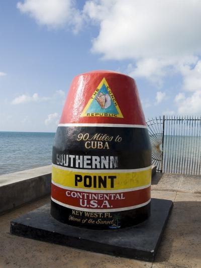 Old Buoy Used as Marker for the Furthest Point South in the United States, Key West, Florida, USA-R H Productions-Photographic Print