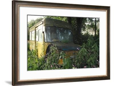 Old Bus in Woodland-Clive Nolan-Framed Photographic Print