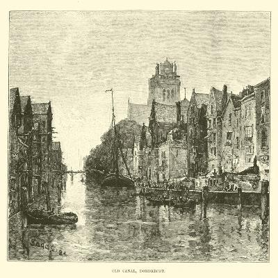 Old Canal, Dordrecht--Giclee Print
