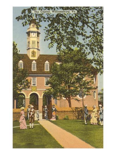 Old Capitol, Williamsburg, Virginia--Art Print