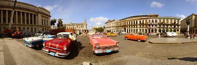 Old Cars on Street, Havana, Cuba--Photographic Print