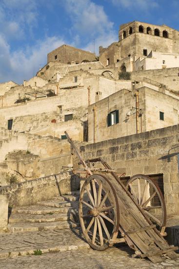Old Cart in the Sassi Area of Matera, Basilicata, Italy, Europe-Martin-Photographic Print