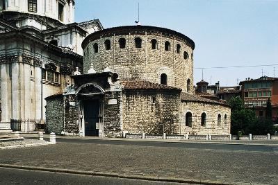 Old Cathedral (Duomo Vecchio) or Rotunda, 9th Century, Brescia, Lombardy, Italy--Photographic Print
