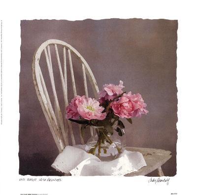 Old Chair With Peonies-Judy Mandolf-Art Print