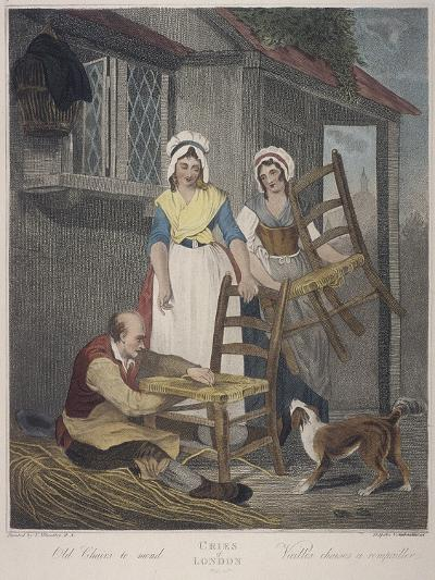 Old Chairs to Mend, Cries of London, C1870-Francis Wheatley-Giclee Print