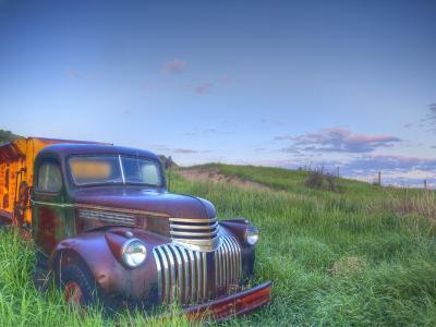 Old Chevy Truck in the Little Missouri National Grasslands, North Dakota, USA-Chuck Haney-Photographic Print