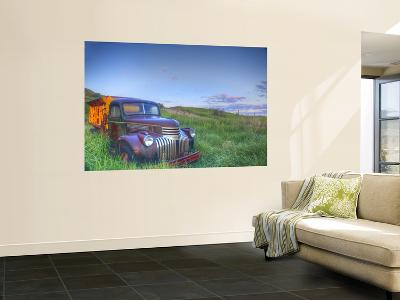 Old Chevy Truck in the Little Missouri National Grasslands, North Dakota, USA-Chuck Haney-Wall Mural