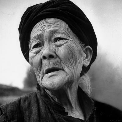 Old Chinese Peasant Woman-Carl Mydans-Photographic Print