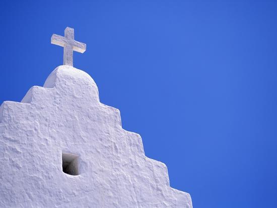 Old Church in Mikonos-David Ball-Photographic Print