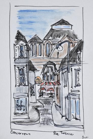 Old church of Concarneau along Rue Turenne, Brittany, France-Richard Lawrence-Premium Photographic Print