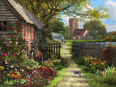 Old Church Path-Dominic Davison-Art Print