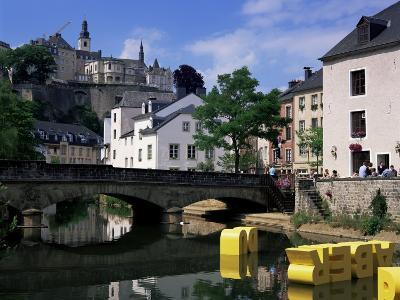 Old City and River, Luxembourg City, Luxembourg-Gavin Hellier-Photographic Print