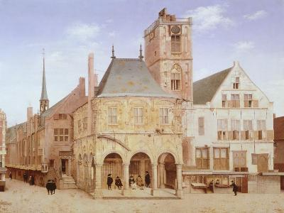 Old City Hall in Amsterdam by Pieter Saenredam, Netherlands, 17th Century Oil on Board--Giclee Print