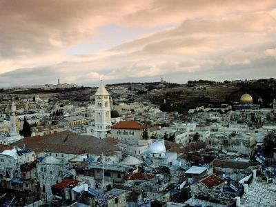 Old City of Jerusalem, Jerusalem, Israel-Izzet Keribar-Photographic Print