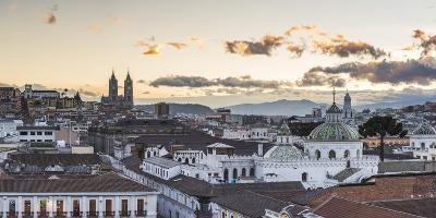 Old City of Quito, Historic Centre, Showing La Basilica Church, Ecuador, South America-Matthew Williams-Ellis-Photographic Print