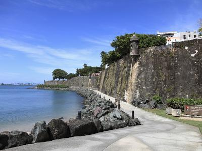 Old City Wall, UNESCO World Heritage Site, Old San Juan, San Juan, Puerto Rico, West Indies, USA-Wendy Connett-Photographic Print
