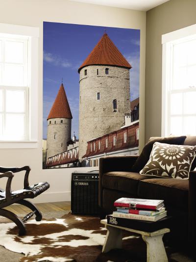 Old City Walls, Tallinn, Estonia-Walter Bibikow-Wall Mural