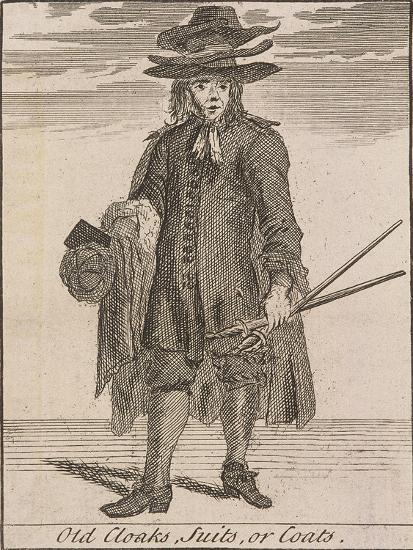 Old Cloaks, Suits, or Coats, Cries of London-Marcellus Laroon-Giclee Print