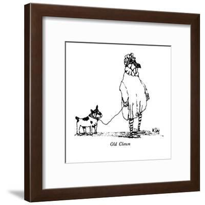 Old Clown - New Yorker Cartoon-William Steig-Framed Premium Giclee Print