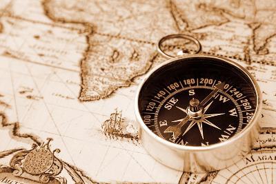 Old Compass-Alex Staroseltsev-Photographic Print