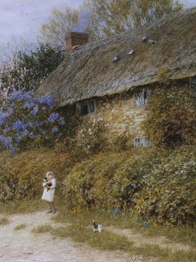 Old Cottage at Freshwater, Isle of Wight (Watercolour with Scratching Out)-Helen Allingham-Giclee Print