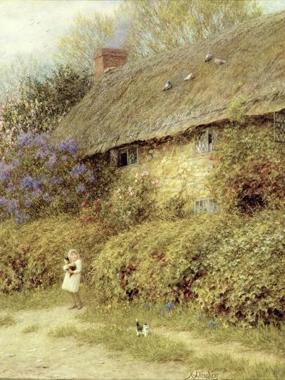 Old Cottage at Freshwater, Isle of Wight-Helen Allingham-Giclee Print
