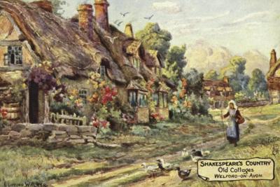 Old Cottages, Welford-On-Avon, Warwickshire--Giclee Print