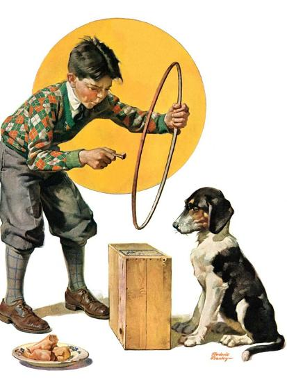 """""""Old Dog, New Tricks,""""July 11, 1931-Frederic Stanley-Giclee Print"""
