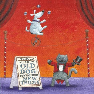 Old Dog with New Tricks-Peter Adderley-Art Print