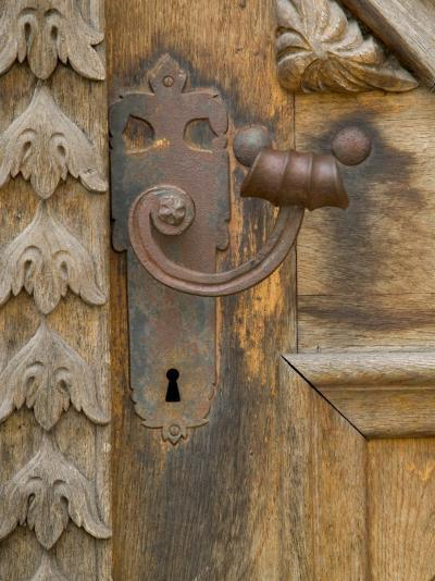 Old Door Handle, Ceske Budejovice, Czech Republic-Russell Young-Photographic Print