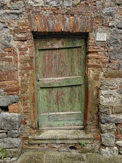 Old Doorway, Lucignano, Tuscany, Italy-Adam Jones-Photographic Print