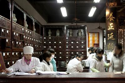 Old Drugstore in Zhongshan Lu, Hangzhou, China--Photographic Print