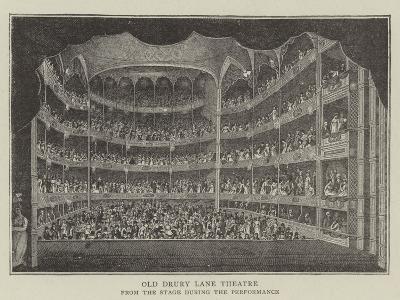 Old Drury Lane Theatre--Giclee Print