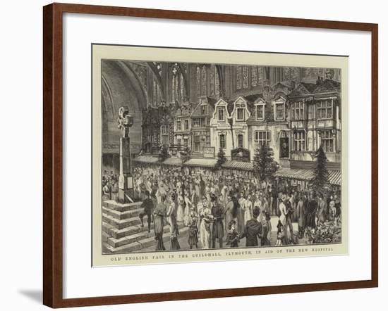 Old English Fair in the Guildhall, Plymouth, in Aid of the New Hospital--Framed Giclee Print