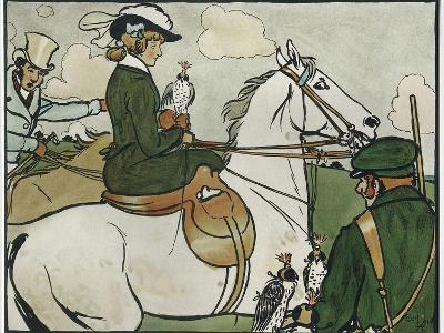 Old English Sports and Games: Hawking, 1901-Cecil Aldin-Giclee Print