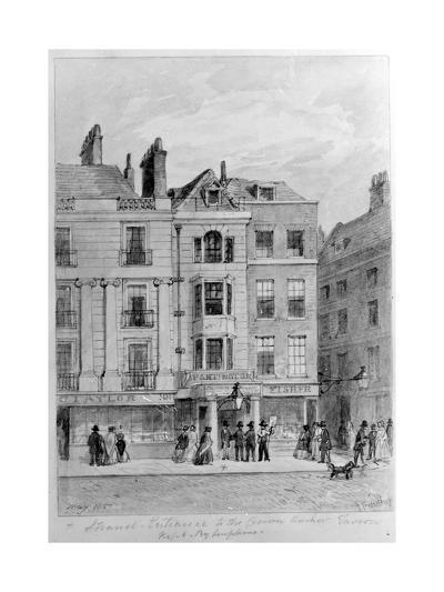 Old Entrance to the Crown and Anchor Tavern,1851--Giclee Print