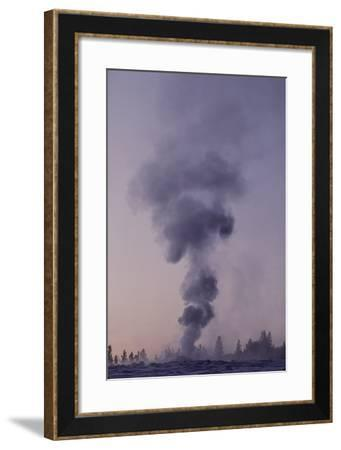 Old Faithful Erupting in Winter-Tom Murphy-Framed Photographic Print