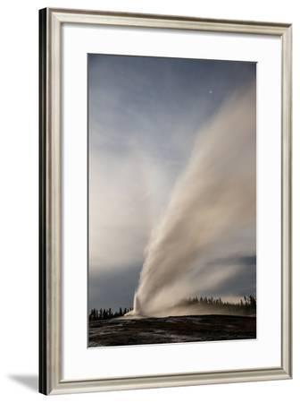 Old Faithful Erupts in Yellowstone National Park's Upper Geyser Basin-Michael Nichols-Framed Photographic Print