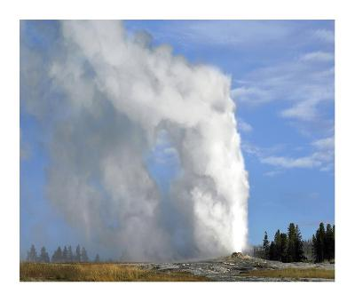 Old Faithful geyser spouting, Yellowstone National Park, Wyoming-Tim Fitzharris-Art Print