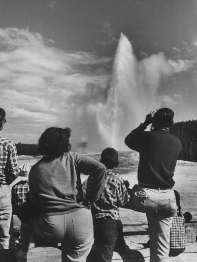Old Faithful in Yellowstone National Park--Photographic Print