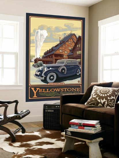 Old Faithful Inn, Yellowstone National Park, Wyoming-Lantern Press-Wall Mural