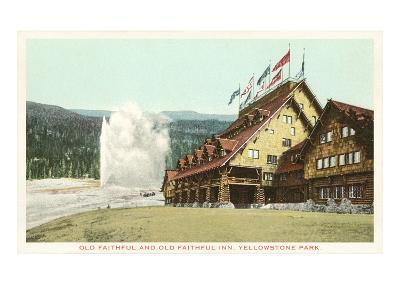 Old Faithful Inn, Yellowstone Park, Montana--Art Print